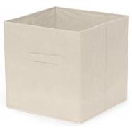 Skládací úložný box Compactor pro police a knihovny, polypropylen, 31x31x31 cm, krémový