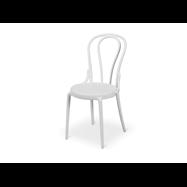 Plastová stolička BISTRO MONET, biela