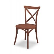 Plastová svadobné stoličky Fiorina, hnedá