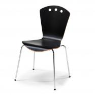 Jedálenská stolička Orlando, čierna, chróm