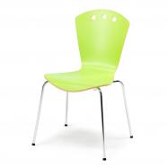 Jedálenská stolička Orlando, zelená / chróm