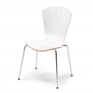Jedálenská stolička Orlando, biela / chróm