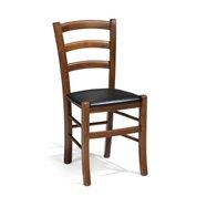 Drevená stolička Tulsa, koženka