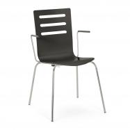 Jedálenská stolička Milla, s opierkami rúk, čierna
