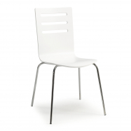 Jedálenská stolička Milla, biela