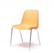 Plastová stolička Sierra, oranžová