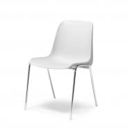 Plastová stolička Sierra, biela