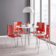 Jedálenská stolička Juno, červená