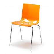 Jedálenská stolička Juno, oranžová