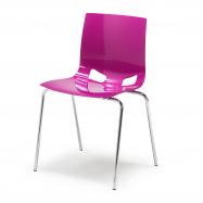 Jedálenská stolička Juno, purpurová