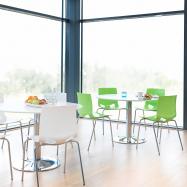 Jedálenská stolička Juno, zelená