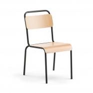 Jedálenská stolička Frisco, čierny rám, HPL buk