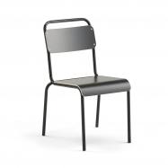 Jedálenská stolička Frisco, čierny rám, HPL čierna