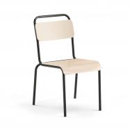 Jedálenská stolička Frisco, čierny rám, HPL breza