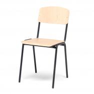 Jedálenská stolička Clinton, breza, čierna