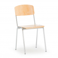 Jedálenská stolička Clinton, breza, chróm