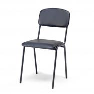 Jedálenská stolička Clinton, čierna koženka, čierna