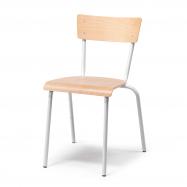 Jedálenská stolička Portland, buk, hliníkovo sivá