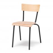 Jedálenská stolička Portland, buk, čierna