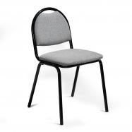 Jedálenská stolička Warren, textilný poťah, šedá, čierna
