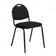 Jedálenská stolička Warren, čierna koženka, čierna