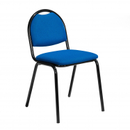 Jedálenská stolička Warren, textilný poťah, modrá, čierna