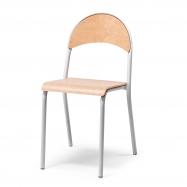 Jedálenská stolička Tampa, buk, hliníkovo sivá