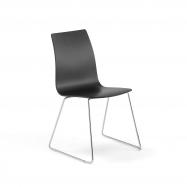 Stolička Filip, V 450 mm, chróm, čierna