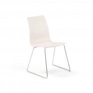 Stolička Filip, V 450 mm, chróm, biela