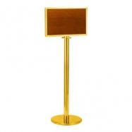 Stojanová tabuľa LG-P1-TG, lanový úchyt, prevedenie zlaté