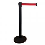 Pásková zábrana RBB23_BLACK s červeným pásom, čierny