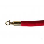 Lano k zábranovým stĺpikom - červené, hladké, zlatá karabína, dĺžka 150cm