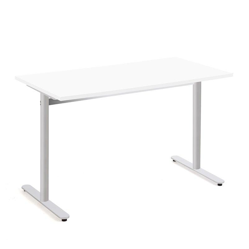 Stôl Tilo, 1200x800x720 mm, strieborná, biela