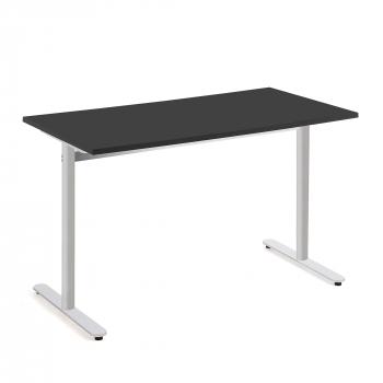 Stôl Tilo, 1200x800x720 mm, strieborná, čierna