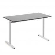 Stôl Tilo, 1200x800x720 mm, strieborná, tmavo šedá
