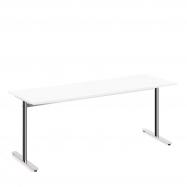 Stôl Tilo, 1800x800x720 mm, chróm, biela