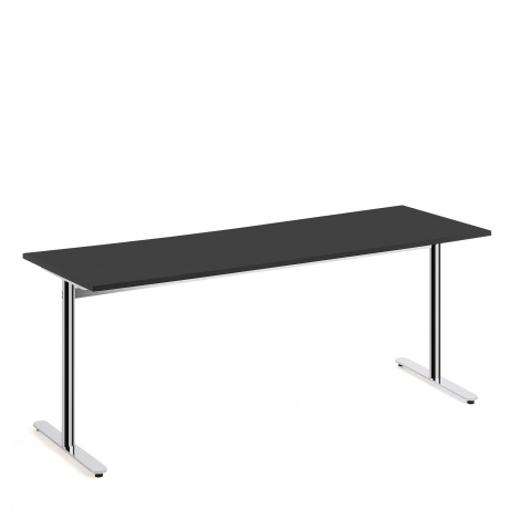Stôl Tilo, 1800x800x720 mm, chróm, čierna