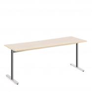 Stôl Tilo, 1800x800x720 mm, chróm, breza