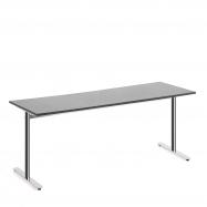 Stôl Tilo, 1800x800x720 mm, chróm, tmavo šedá