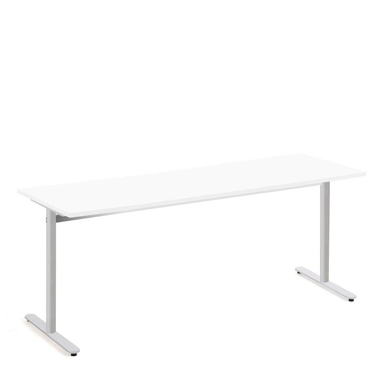 Stôl Tilo, 1800x800x720 mm, strieborná, biela