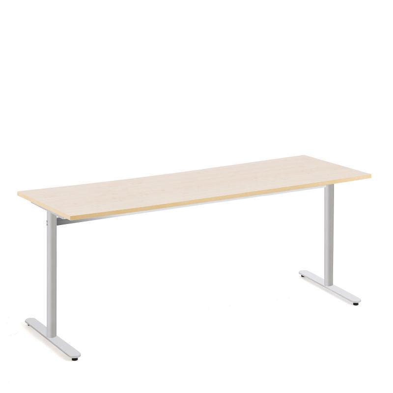 Stôl Tilo, 1800x800x720 mm, strieborná, breza