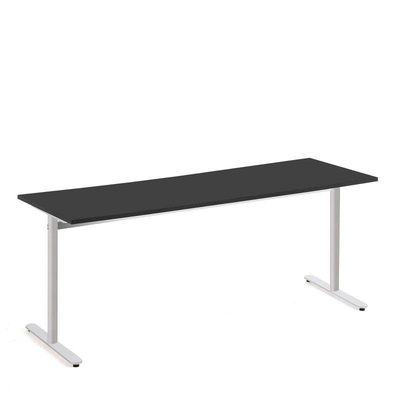 Stôl Tilo, 1800x800x720 mm, strieborná, čierna