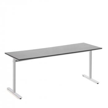 Stôl Tilo, 1800x800x720 mm, strieborná, tmavo šedá