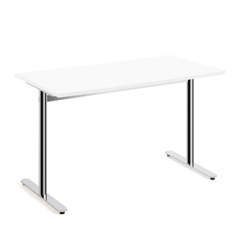 Stôl Tilo, 1200x800x720 mm, chróm, biela