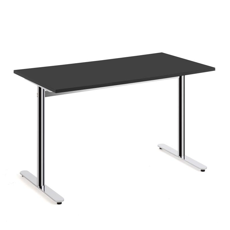 Stôl Tilo, 1200x800x720 mm, chróm, čierna