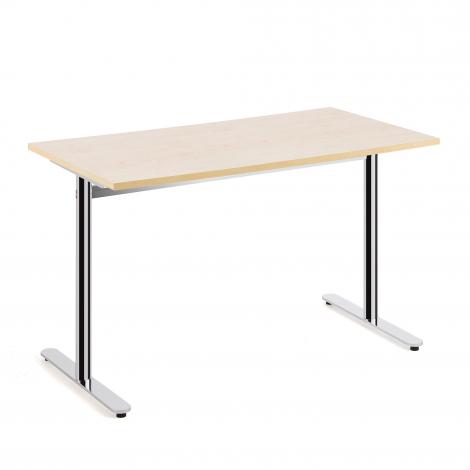 Stôl Tilo, 1200x800x720 mm, chróm, breza