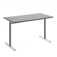 Stôl Tilo, 1200x800x720 mm, chróm, tmavo šedá