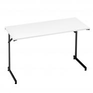Skladací stôl Claire, 1200x600 mm, biela, čierna