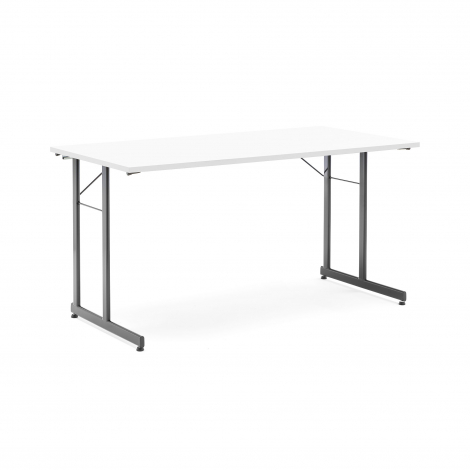 Skladací stôl Claire, 1400x700 mm, biela, čierna