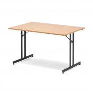 Skladací stôl Emily, 1200x800 mm, buk, čierna